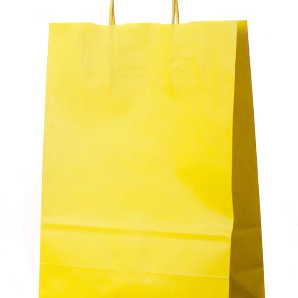 saco com asa retorcida amarelo