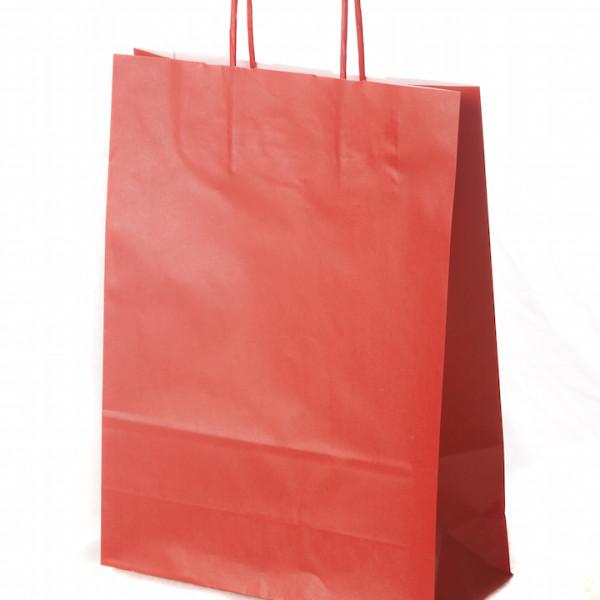 sacos com asa retorcida vermelho