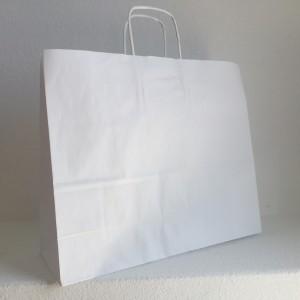 Saco generico com asa retorcida horizontal branco