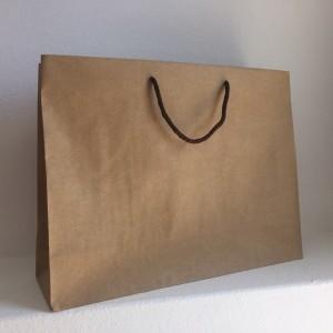 sacos generico com asa de cordão, kraft