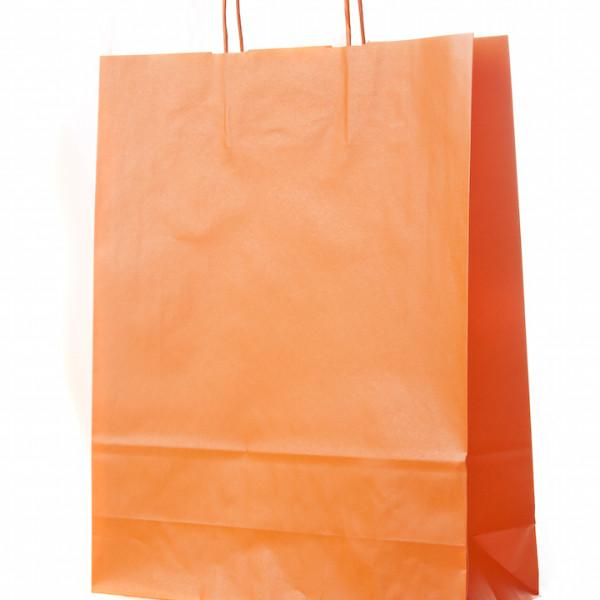 saco com asa retorcida laranja
