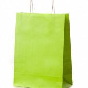 sacos com asa retorcida verde alface